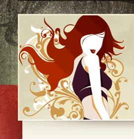 covet cartoon girl with red hair_full