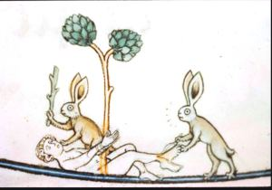 medieval-animal-animal-acting-human-rabbits-beating-up-man1