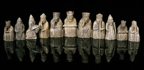 History butterfly crossing - Lewis chessmen set ...